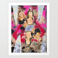 britney Art Prints featuring Britney by GREATeclectic