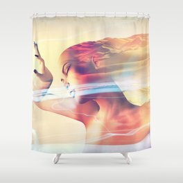 The Sands of Time VI Shower Curtain