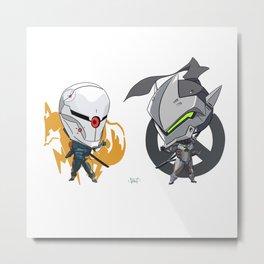 Cyborgs Unite Metal Print