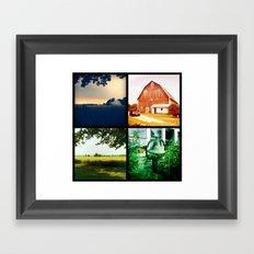 Summer on my parents' farm. Framed Art Print