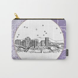 Portland, Oregon City Skyline Illustration Drawing Carry-All Pouch