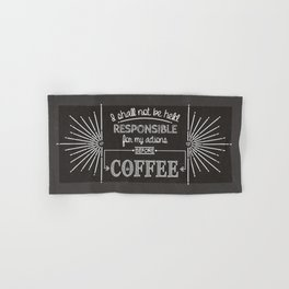 Coffee Responsibly // Horizontal Hand & Bath Towel