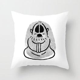 Man at Rest Throw Pillow