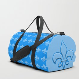 Fleur de lis blue mono chroma Duffle Bag