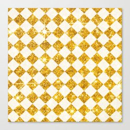 gold checkers Canvas Print