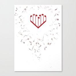 Music Heart Canvas Print