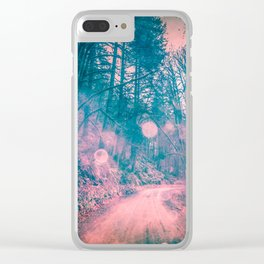 Pink Magical Path Clear iPhone Case