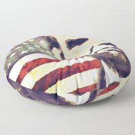 Patriot President Abraham Lincoln Floor Pillow