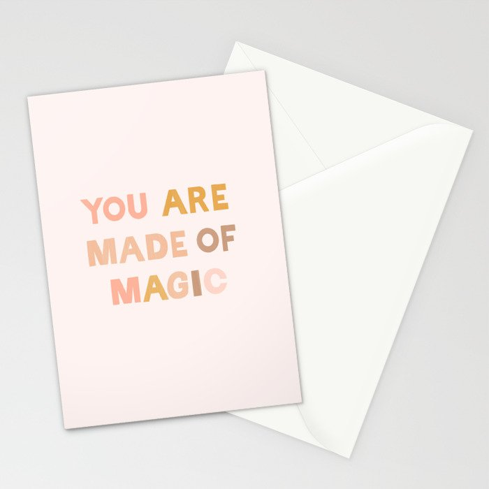 You Are Made Of Magic Art Print Stationery Cards