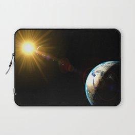 sun, earth and the moon Laptop Sleeve