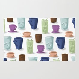 Drinks in Cups Rug