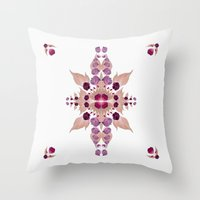 kaleidoscope Throw Pillows featuring Kaleidoscope by Karolis Butenas