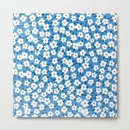 Southern Floral Pattern Metal Print