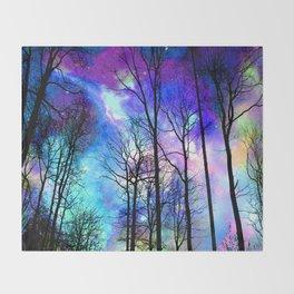 fantasy sky Throw Blanket
