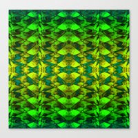 green pattern Canvas Prints featuring Green pattern. by Assiyam