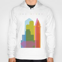 san diego Hoodies featuring Shapes of San Diego by Glen Gould