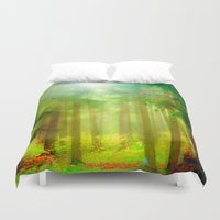 fairy tale Duvet Covers featuring Fairy tale by Armine Nersisian