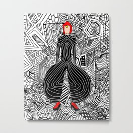 Heroes Fashion 6 Metal Print