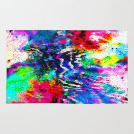 Technicolor Zebra Splatter Rug