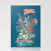 stickers Stationery Cards featuring BOUNTY HUNTER by BeastWreck
