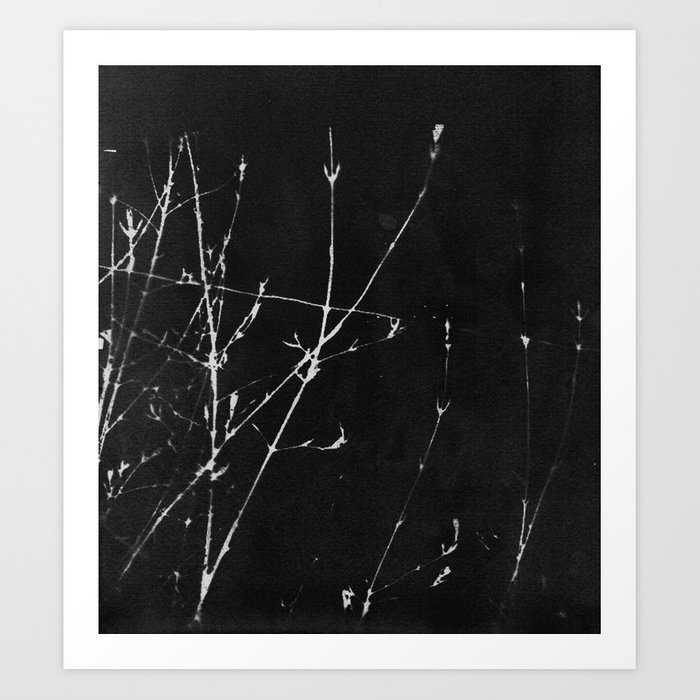 Scratches and Shards Art Print