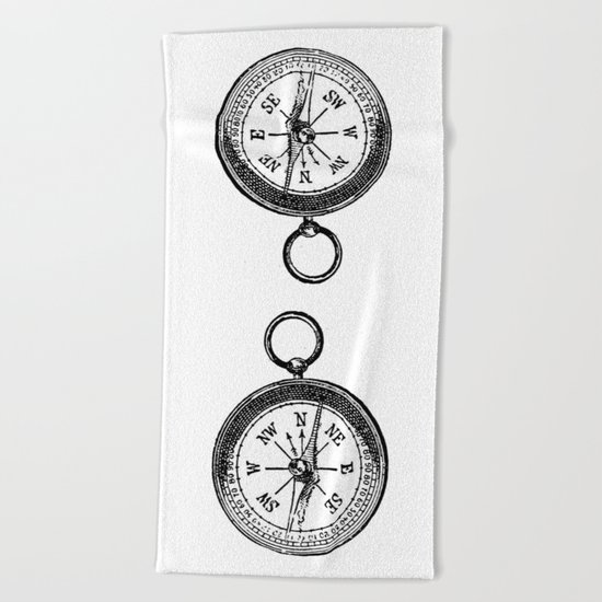 Compass 2 Beach Towel