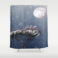 owls Shower Curtains featuring owls by Emily Tumen