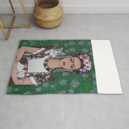 Frida cat lover Rug