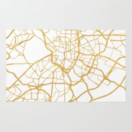 MADRID SPAIN CITY STREET MAP ART Rug