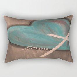 Grace Heart Cross Rectangular Pillow