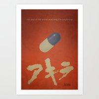 akira Art Prints featuring Akira by rkbr