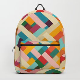colorful retro striped Were Backpack