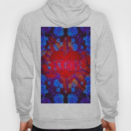 Mom Tattoo Retro Glowing Floral Print Hoody