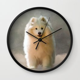 More Snow Please Wall Clock