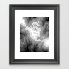 Map of North and Central America : WHITEOUT Framed Art Print