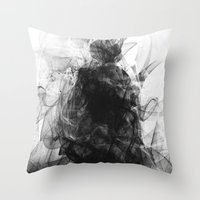 evil Throw Pillows featuring Evil by Nechifor Ionut