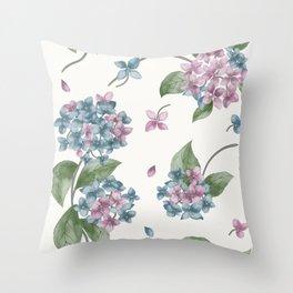 Sweet Hydrangeas Throw Pillow