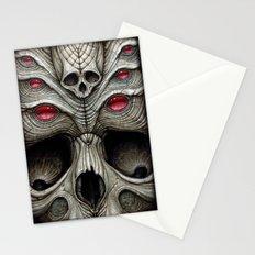 spider skull Stationery Cards