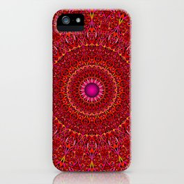 Red Jungle Mandala iPhone Case