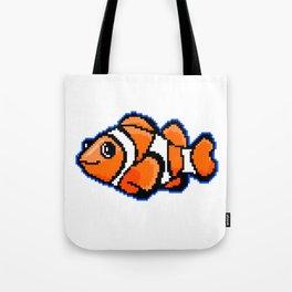 8-Bit Pixel Art Clown Fish Tote Bag