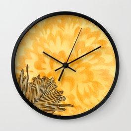 Golden Plume Wall Clock