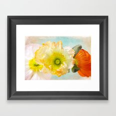 Feeling of summer Framed Art Print