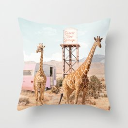 Desert Hot Springs Throw Pillow