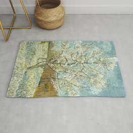 Vincent Van Gogh Peach Tree In Blossom Rug