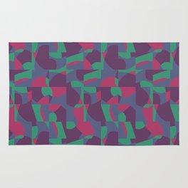 Retro-Inspired Geometric Pattern in Desaturated Jewel Tones Rug