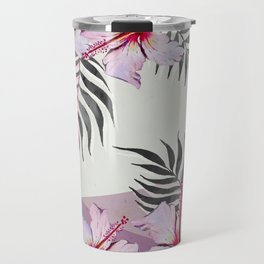 Ibiscus on Geometry Travel Mug