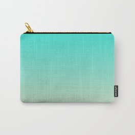 Bright Turquoise and Angelskin Tropical Paradise Seychelles Island Beach Carry-All Pouch