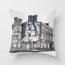 Cork Street Derelict Throw Pillow