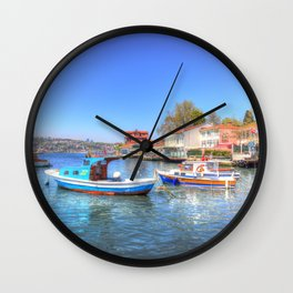 Boats on The Bosphorus Istanbul Wall Clock