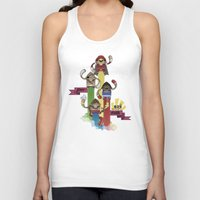 street fighter Tank Tops featuring Street Fighter 25th Anniversary!!! by Ed Warner
